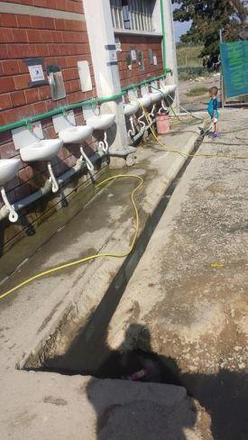 Open drains...