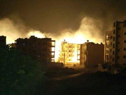 Idlib at night...